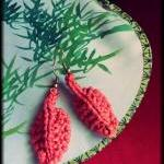 Hand Knitted Autumn Leaf E..