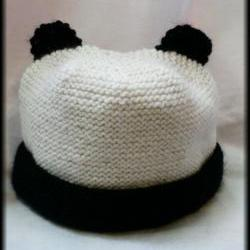Hand Knitted Panda Hat